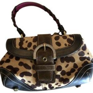 Coath Ocelot calf hair handbag